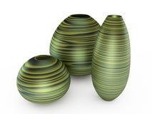 τρισδιάστατο πράσινο vase απ&epsil Στοκ Εικόνα
