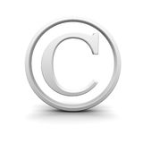 τρισδιάστατο σημάδι πνευματικών δικαιωμάτων Στοκ Φωτογραφία