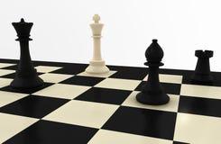 τρισδιάστατο σκάκι χαρτ&omicron Στοκ Φωτογραφία