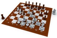 τρισδιάστατο σκάκι Στοκ Εικόνα
