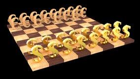 τρισδιάστατο σκάκι Στοκ εικόνες με δικαίωμα ελεύθερης χρήσης