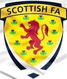 τρισδιάστατο σκωτσέζικο έμβλημα ένωσης ποδοσφαίρου διανυσματική απεικόνιση