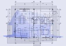τρισδιάστατο σπίτι σχεδί&omega Απεικόνιση αποθεμάτων