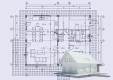 τρισδιάστατο σπίτι σχεδί&omega Ελεύθερη απεικόνιση δικαιώματος