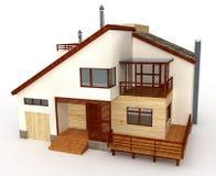 τρισδιάστατο σπίτι Απεικόνιση αποθεμάτων