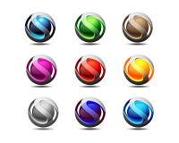 Τρισδιάστατο σχέδιο λογότυπων και εικονιδίων του S ελεύθερη απεικόνιση δικαιώματος
