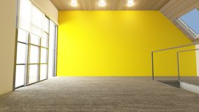 τρισδιάστατο σύγχρονο κενό δωμάτιο στοκ εικόνα με δικαίωμα ελεύθερης χρήσης