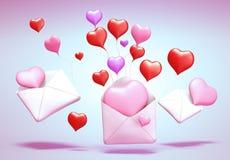 τρισδιάστατο ταχυδρομείο αγάπης ελεύθερη απεικόνιση δικαιώματος