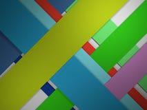 Τρισδιάστατο υπόβαθρο ευθειών γραμμών χρώματος εγγράφου περικοπών αφηρημένο Στοκ Φωτογραφία