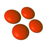 τρισδιάστατο φακοειδές κόκκινο λογότυπων Στοκ Εικόνες