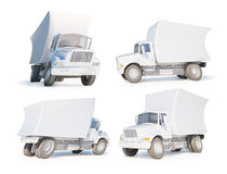 τρισδιάστατο φορτηγό κιν&omi Στοκ Εικόνες