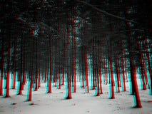 τρισδιάστατο χειμερινό δάσος Στοκ Εικόνες