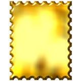 τρισδιάστατο χρυσό γραμματόσημο διανυσματική απεικόνιση
