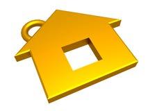 τρισδιάστατο χρυσό σπίτι Στοκ εικόνα με δικαίωμα ελεύθερης χρήσης