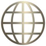 τρισδιάστατο χρυσό σύμβολο www διανυσματική απεικόνιση