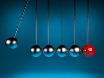 τρισδιάστατο ballancing λίκνο Newton ελεύθερη απεικόνιση δικαιώματος