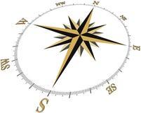 τρισδιάστατο brujula1c compass1c3d Στοκ φωτογραφία με δικαίωμα ελεύθερης χρήσης