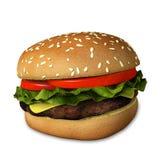τρισδιάστατο Cheeseburger Στοκ φωτογραφία με δικαίωμα ελεύθερης χρήσης