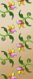 τρισδιάστατο floral πρότυπο Στοκ φωτογραφίες με δικαίωμα ελεύθερης χρήσης