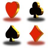 τρισδιάστατο simbol πόκερ 01 Στοκ Εικόνα