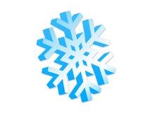 τρισδιάστατο snowflke Στοκ Εικόνες