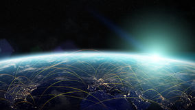 Τρισδιάστατα δίνοντας στοιχεία ανταλλαγής παγκόσμιων δικτύων και στοιχείων αυτού του ι Στοκ φωτογραφία με δικαίωμα ελεύθερης χρήσης