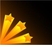 τρισδιάστατα αστέρια Στοκ εικόνες με δικαίωμα ελεύθερης χρήσης