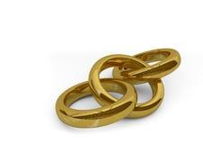 τρισδιάστατα δαχτυλίδια Στοκ φωτογραφία με δικαίωμα ελεύθερης χρήσης
