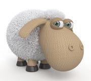 τρισδιάστατα γελοία πρόβατα Στοκ φωτογραφία με δικαίωμα ελεύθερης χρήσης
