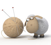 τρισδιάστατα γελοία πρόβατα Στοκ Φωτογραφίες