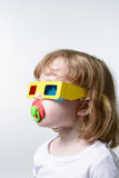 τρισδιάστατα γυαλιά παι&delt Στοκ Εικόνες