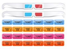 τρισδιάστατα εισιτήρια γ& Στοκ φωτογραφία με δικαίωμα ελεύθερης χρήσης
