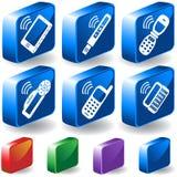 τρισδιάστατα κουμπιά ηλεκτρονικά Στοκ φωτογραφίες με δικαίωμα ελεύθερης χρήσης