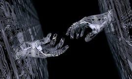 τρισδιάστατα κυκλώματα που φτάνουν Στοκ φωτογραφία με δικαίωμα ελεύθερης χρήσης