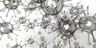 τρισδιάστατα κύτταρα βακτηριδίων Στοκ εικόνα με δικαίωμα ελεύθερης χρήσης