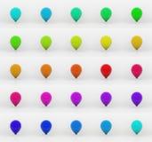 τρισδιάστατα μπαλόνια Στοκ Εικόνες
