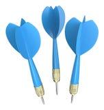 τρισδιάστατα μπλε βέλη Στοκ Εικόνες