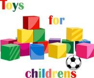 τρισδιάστατα παιχνίδια απεικόνισης παιδιών Στοκ φωτογραφία με δικαίωμα ελεύθερης χρήσης