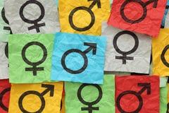 τρισδιάστατα σύμβολα απεικόνισης γένους έννοιας Στοκ εικόνες με δικαίωμα ελεύθερης χρήσης