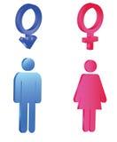 τρισδιάστατα σύμβολα απεικόνισης γένους έννοιας Στοκ φωτογραφία με δικαίωμα ελεύθερης χρήσης