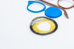 Τρισδιάστατα τυπωμένα αντικείμενα χαλκού PLA με τα ορατά στρώματα του πλαστικού που είναι βιώσιμο Στοκ Φωτογραφία