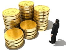 τρισδιάστατα χρήματα Στοκ φωτογραφία με δικαίωμα ελεύθερης χρήσης