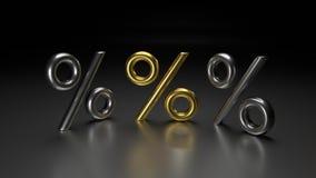 τρισδιάστατα χρυσά τοις εκατό Στοκ φωτογραφία με δικαίωμα ελεύθερης χρήσης