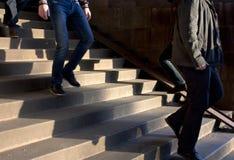 τρισδιάστατα όμορφα διαστατικά σκαλοπάτια τρία ατόμων απεικόνισης εξέλιξης πολύ Στοκ φωτογραφία με δικαίωμα ελεύθερης χρήσης