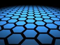 τρισδιάστατα hexagon hexagons δεκαεξαδικού ανασκόπησης Στοκ Εικόνα