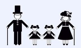 τρισδιάστατες απομονωμένες σκιαγραφίες ανθρώπων αντικειμένου Οικογένεια Στοκ φωτογραφίες με δικαίωμα ελεύθερης χρήσης