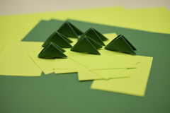 τρισδιάστατες ενότητες origami στοκ φωτογραφία με δικαίωμα ελεύθερης χρήσης