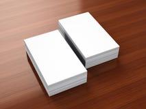 Κενό πρότυπο επαγγελματικών καρτών στοκ εικόνες