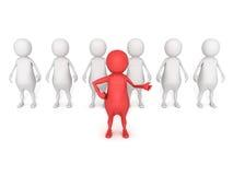 τρισδιάστατες ηγεσία εικονιδίων ατόμων έννοιας και εργασία ομάδων Στοκ Εικόνες
