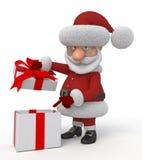 τρισδιάστατες διακοπές Χριστουγέννων Στοκ Εικόνες